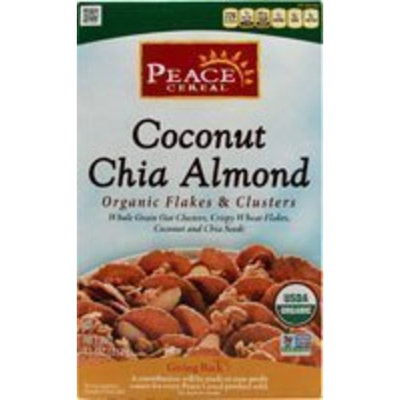 Peace Cereal Organic Flakes & Clusters Coconut Chia Almond 11 Oz (Pack of 6) - Pack Of 6