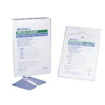 Kendall Telfa Pre-Cut Clear Wound Contact Layer Dressing Sterile, Non-Adherent 4'' x 5'' Square BX/25