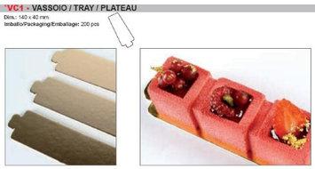 Pavoni Rectangular Carton Tray for Uniportion Desserts - 5-1/2