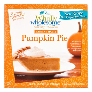 Wholly Wholesome Pie 8 Inch Pumpkin Unbaked Rtl, Size: 25.5 Oz (Pack of 6)