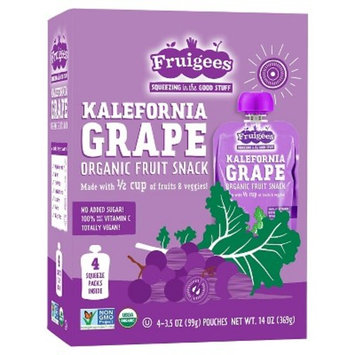 Fruigees Kalefornia Grape Organic Fruit Snack Squeeze Packs - 4ct