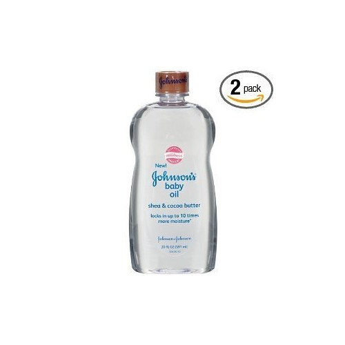Johnson & Johnson Baby Oil with Shea & Cocoa Butter 20 oz. (Pack of 6)