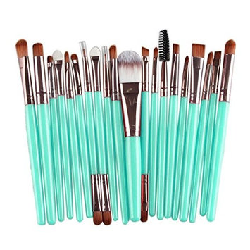 Binmer(TM) 20 pcs Makeup Brush Set tools Make-up Toiletry Kit Wool Foundation Powder Lip Mascara Eyeshadow Brushes (Rose G
