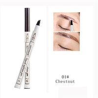 Eyebrow Tattoo Pen💕DEESEE(TM)💕New Durable Makeup Tattoo Eyeliner Pen Eyebrow Pencil Waterproof Sweatproof Easy To Wear Long Lasting Fork Tip Sketch Makeup Pen Microblading Ink Sketch