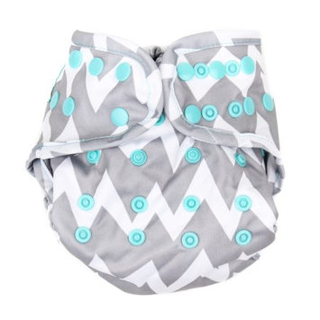 Diaper Cover - Bumkin - Gray Chevron New ECS-501