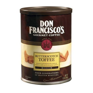 F. Gavi A & Sons, Inc. Don Francisco's Butterscotch Toffee, Medium Roast, Ground Coffee, 12 oz. (Pack of 6)