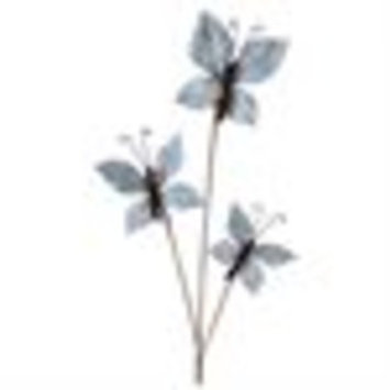 Club Pack of 12 Light Blue Artificial Butterfly Leaf Sprays 28