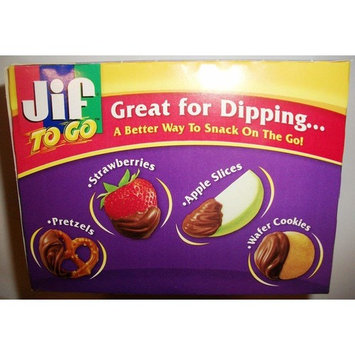 Jif To Go Chocolate Silk Peanut Butter & Chocolate Flavored Spread 8 Ct (1.5 Oz Cups) - 12 0z Box