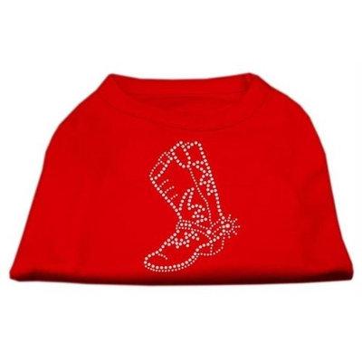 Mirage Pet Products 5214 XLRD Rhinestone Boot Shirts Red XL 16