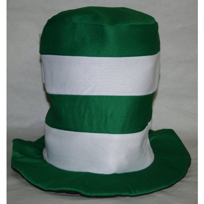Greenbriar International St. Patrick's Day Top Hat - Green and White Stripes