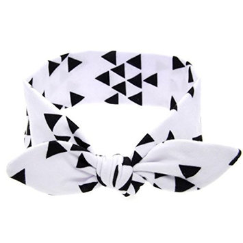 Baby Headbands, Bestpriceam Baby Girls Rabbit Bow Ear Hairband Headband Turban Knot Tie Head Wraps (White)