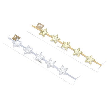 Girls Little Star Crown Headband - 2 Pack - Gold/ Silver - Small Child/ Big Child ( 3-12Y)