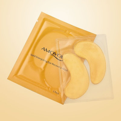 AMOVOL Luxury Gold Eye Firming Mask, Intensive Recovery Under Eye Patches, Premium Gifts for Women (1 Pair)