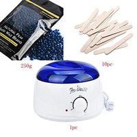 Fineser Hair Removal Wax Warmer,Electric Heater Wax Warmer with 250g Hair Removal Wax Beans and 10 Wax Applicator Sticks For Women and Man