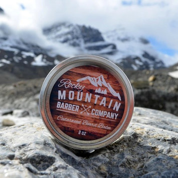 Beard Balm - Rocky Mountain Barber - 100% Natural - Premium Wax Blend with Cedarwood Scent, Nutrient Rich Bees Wax, Jojoba, Tea Tree, Coconut Oil