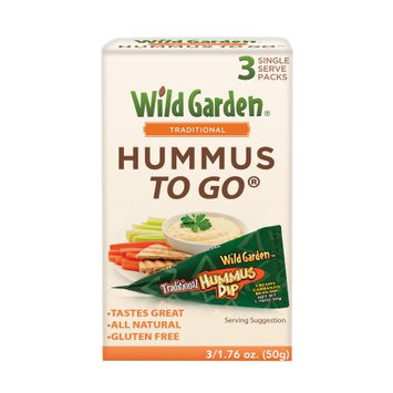 Wild Garden Hummus to Go Traditional, 3 CT (Pack of 2)