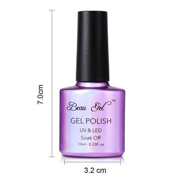 Holographic nail polish gel,Beau Gel Colorful Rainbow Manicure Nail Art Red 10ml 7008
