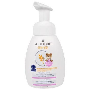 ATTITUDE, Sensitive Skin Care, Baby, Natural Baby Bottle & Dishwashing Foam, 9.9 fl oz (295 ml)