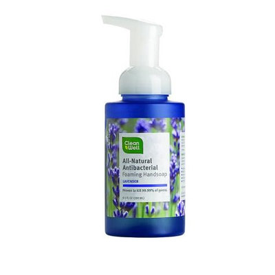 Cleanwell All Natural Antibacterial Foaming Hand Wash, Lavender Absolute, 9.5 Oz
