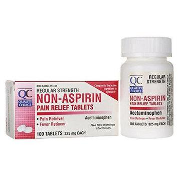 Quality Choice Non-Aspirin - Regular Strength 325 mg 100 Tabs