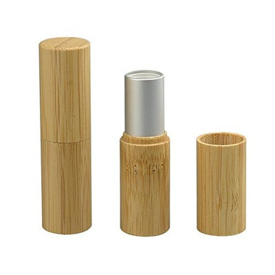 3PCS 5ML Empty Bamboo DIY Lipstick Lip Balm Gloss Tubes Holder Containers Crayon Chapstick Deodorant Tube Pipe Bottle Case For Cosmetic