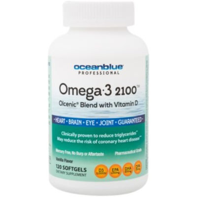 Omega 3 2100 Olcenic Blend with Vitamin D - VANILLA (120 Softgels) by Ocean Blue at the Vitamin Shoppe