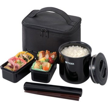 Jaybrake Tiger Lwye036k4 Black Lunch Box Bento Set 0.75L Incl Thermal