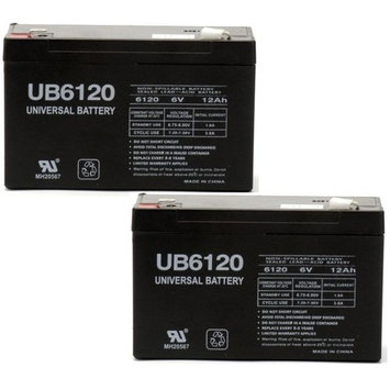 6V 12AH SLA Battery RBC52 Tripplite UB6120 Modified Power Wheels-$0 SHIPPING - 2 Pack