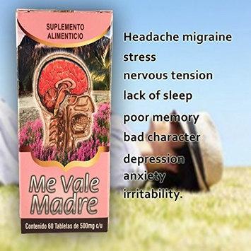 Me Vale Madre 60 Caps. Headache Migraine & Stress/ Dolor De Cabeza,estres