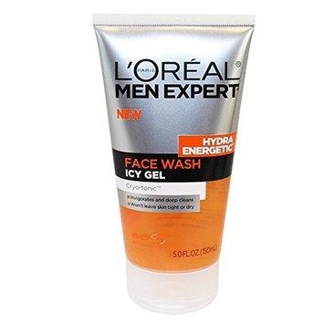 L'Oreal Hydra Energetic Face Wash Icy Gel Cryo-tonic, 5 Fl Oz + Curad Bandages 8 Ct.