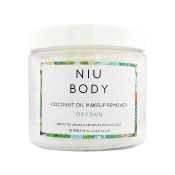 NIU BODY Makeup Remover Wipes, Oily Skin, 25 Ct