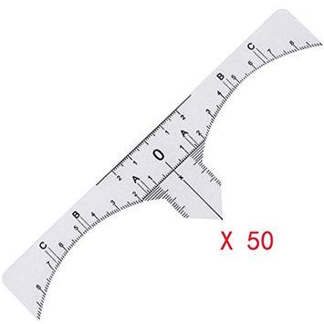Binmer(TM) One-time Microblading Makeup Brow Measure Eyebrow Guide Ruler Permanent Tools