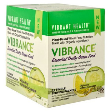 Vibrant Health Vibrance Essential Daily Green Food Refreshing Citrus Cucumber 15 Single Serving Packets