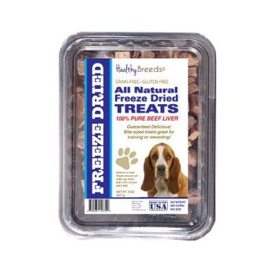 Healthy Breeds 840235147459 10 oz Basset Hound All Natural Freeze Dried Treats Beef Liver