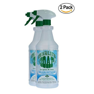 Charlie's Soap - Non-Toxic, Biodegradable, Multi-Surface, Indoor-Outdoor Cleaner (32 oz Sprayer, 2 Pack)