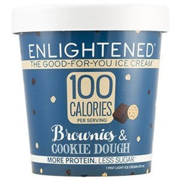 Enlightened - The Good For You Ice Cream, High Protein-Low Sugar-High Fiber-Low Fat, Brownies & Cookie Dough, Pint (8 Count)