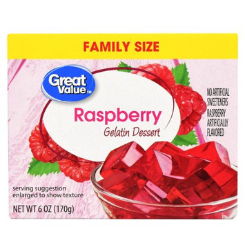 Great Value Raspberry Gelatin Dessert