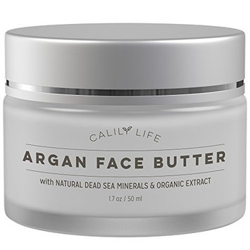 Calily Life Organic Argan Face Cream with Dead Sea Minerals, 1.7 Oz. – Ultra-Hydrating - Anti-Wrinkle and Anti-Aging - Smooths, Moisturizes and Regenerates