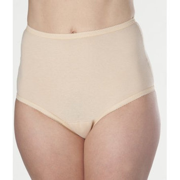 Prime Life Fibers Women's Beige Cotton Comfort Incontinence Panties 6XL (3-Pack)