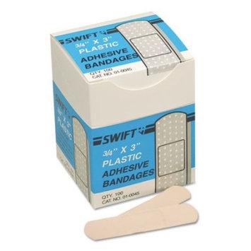 Adhesive Plastic Bandages, 16pcs, 3/4