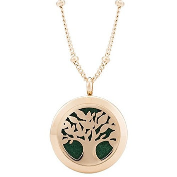 Rose Gold Aromatherapy Pendant for Essential Oils
