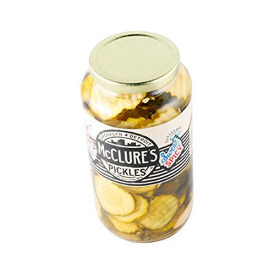 McClures Pickles Sweet & Spicy Chip Cut Pickles 32 Oz. - Pack of 12