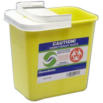 ChemoSafety Sharps Container with Hinged Lid 8 Gallon