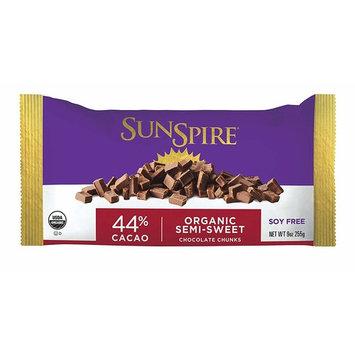 SunSpire Organic Fair Trade 44% Cacao Chocolate Chunks, 9 Ounce [44% Cacao]