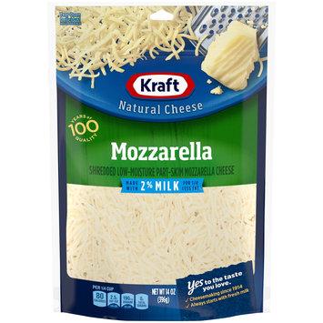 Kraft Mozzarella Shredded Natural Cheese with 2% Milk