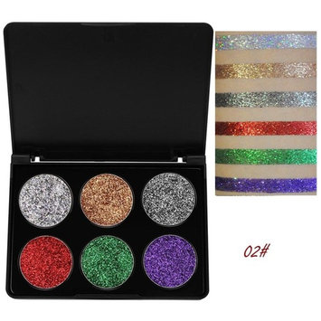Staron 6 Colors Eye Shadow Palette Matte Glitters Makeup Powder Eyeshadow Shimmer Cosmetic for Professional Makeup or Daily Use