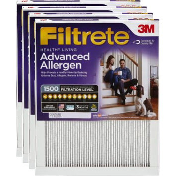 Nexcare Filtrete Advanced Allergen Reduction Air and Furnace Filter, Available in Multiple Sizes, 4pk