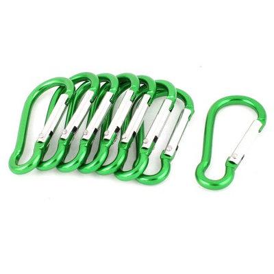 Calabash Design Clip Snap Carabiner Hook Keychain Karabiner Bag Holder x 8 Green