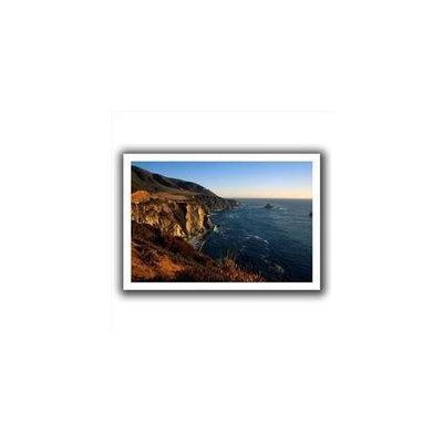 Artwal Kathy Yates Golden Glow on Big Sur Unwrapped Canvas Artwork, 16 x 24 Inch