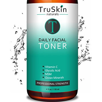 DAILY Facial SUPER Toner for All Skin Types, Contains Glycolic Acid, Vitamin C, Witch Hazel and Organic Anti Aging Ingredients for Sensitive Skin, Combination, Acne, and Even Oily Skin